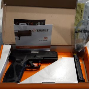 Taurus G3 9mm for sale Luger Pistol is designed to offer a comfortable, secure hold for quick pointing and maneuvering. Buy Firearms online